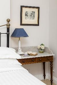 clean and fresh bed sheets in London Winchendon Road luxury apartment