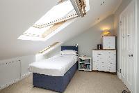 cool slanted windows of London Winchendon Road luxury apartment