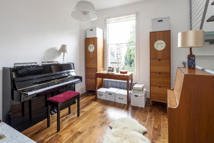 awesome upright piano in London Gayton Road luxury apartment