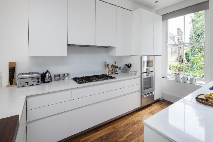 awesome kitchen of London Gayton Road luxury apartment