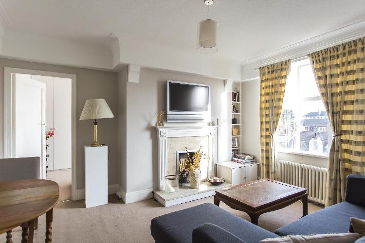 pretty living room of London Sutton Lane North luxury apartment
