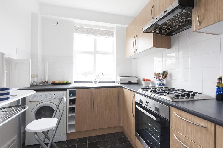 nice modern kitchen of London Sutton Lane North luxury apartment