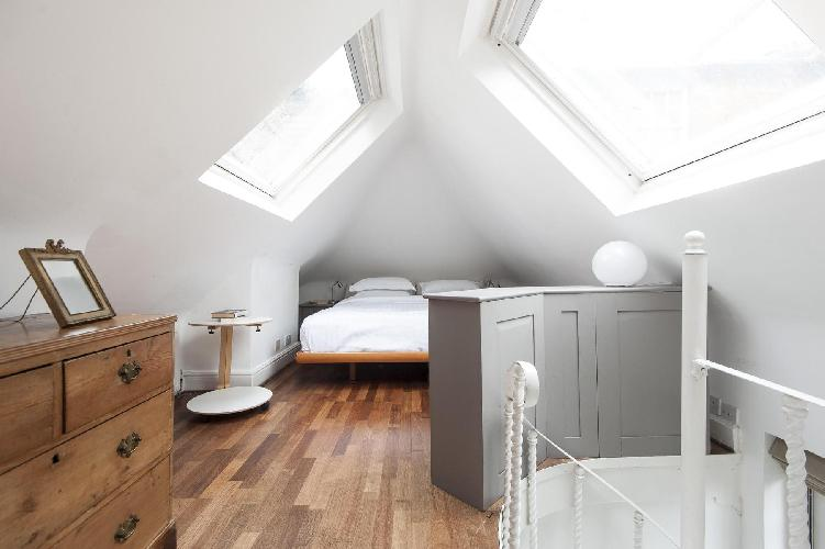 cool slanted window in London Mount Square luxury apartment