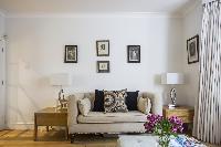 interesting wall art in London Beaufort Gardens luxury apartment