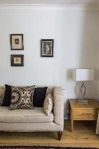 sitting-room furnishings in London Beaufort Gardens luxury apartment