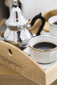 tea service in London Beaufort Gardens luxury apartment
