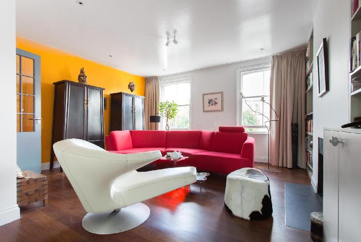 awesome furnishings in the living room of London Coningham Road II luxury apartment