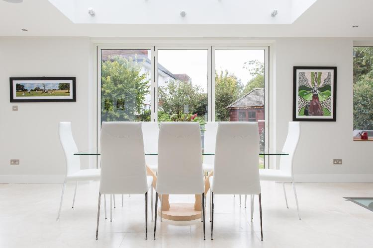 lovely dining room of London York Avenue II luxury apartment