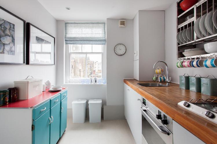 nice kitchen of London Royal Hospital Road luxury apartment