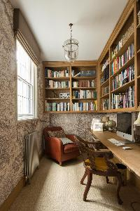 awesome library and office of London St Mary's Gardens II luxury apartment