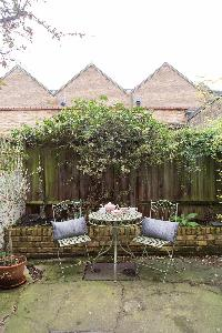 awesome blooms and foliage on the patio of London St Mary's Gardens II luxury apartment