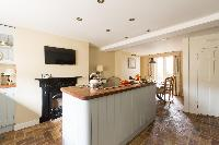 cool modern kitchen of London St Mary's Gardens II luxury apartment