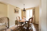 fancy dining room of London St Mary's Gardens II luxury apartment