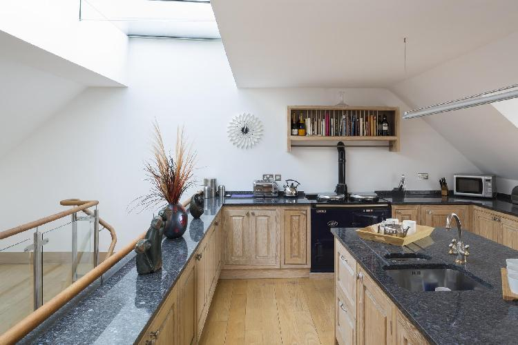 cool skylights of London West Grove luxury apartment