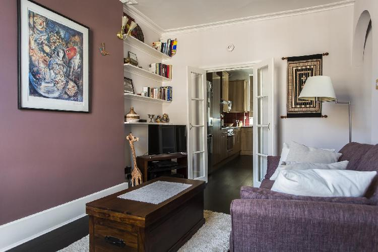 tastefully furnished sitting area of London Coram's Fields luxury apartment