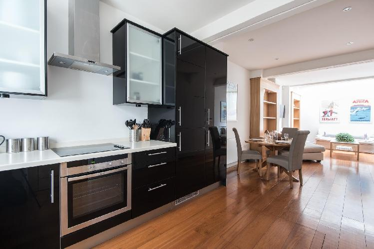 swanky kitchen of London Gregory Place luxury apartment