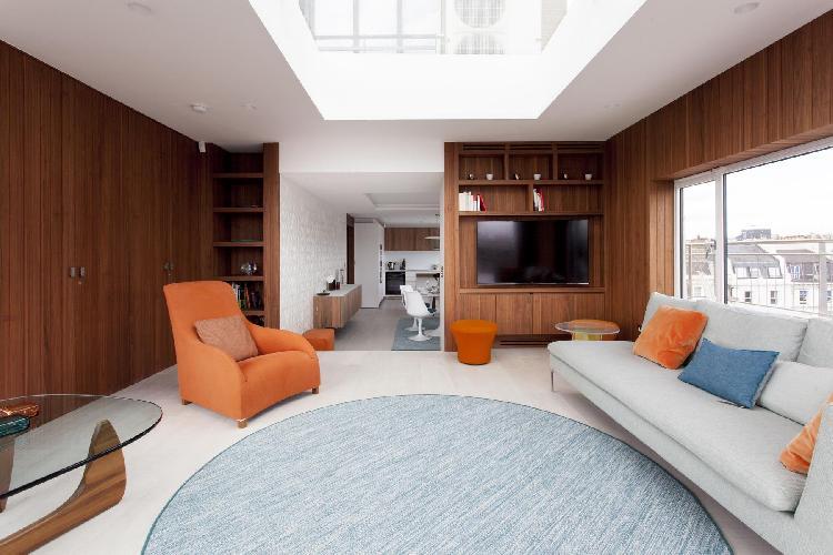 awesome skylights of London Petersham House luxury apartment