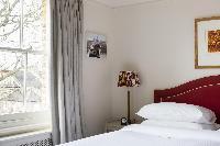 bedroom with a view in London Albert Bridge Road II luxury apartment