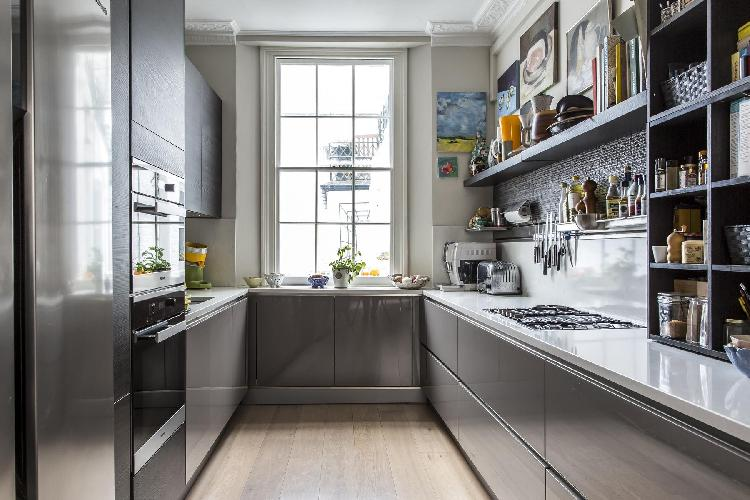 modern kitchen appliances in London Albion Street luxury apartment