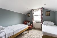 relaxing bedroom in London Mayfield Avenue II luxury apartment