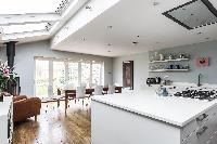 cool kitchen skylights of London Mayfield Avenue II luxury apartment