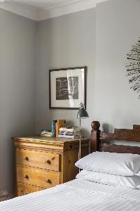 charming bedside table in London Mayfield Avenue II luxury apartment