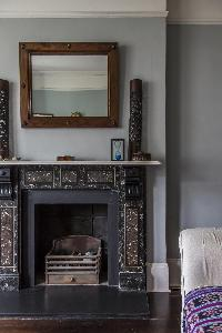 nice mantel accents in London Mayfield Avenue II luxury apartment