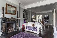 cozy parlor of London Mayfield Avenue II luxury apartment