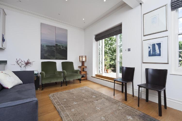 charming living room of London St Anns Road luxury apartment