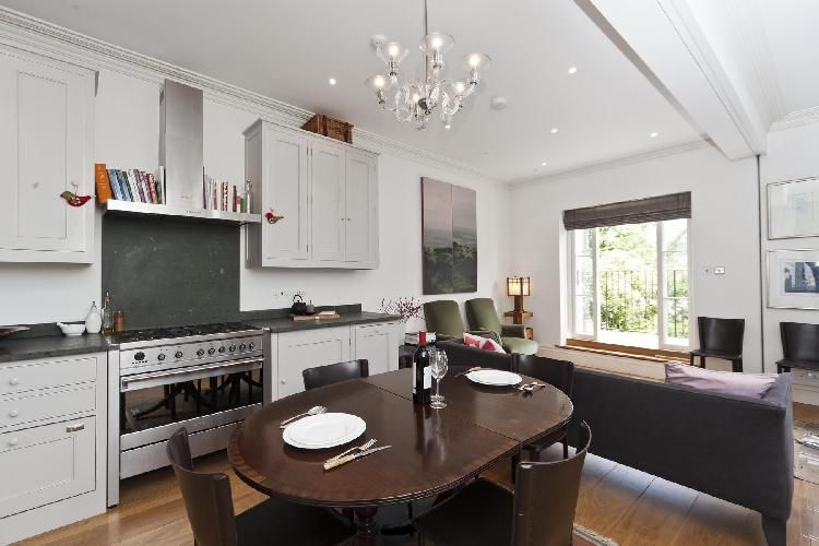 nice kitchen of London St Anns Road luxury apartment