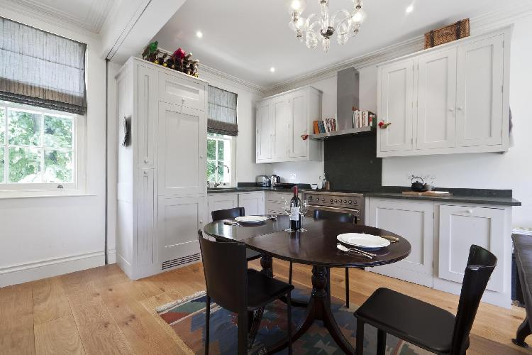 delightful dining area in London St Anns Road luxury apartment