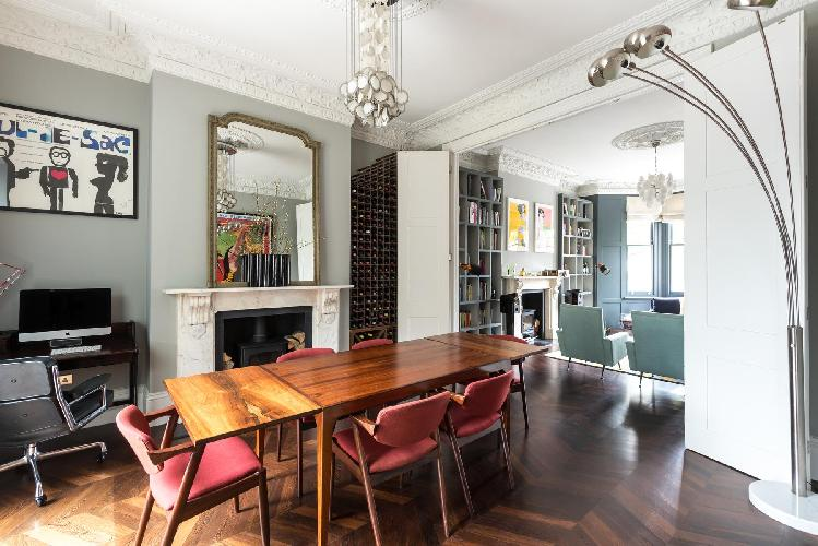 charming dining room of London St Quintin Avenue luxury apartment