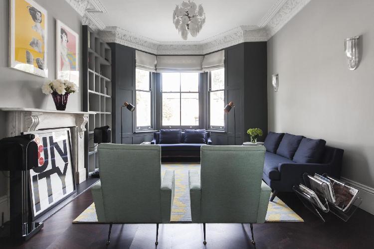 cozy parlor of London St Quintin Avenue luxury apartment