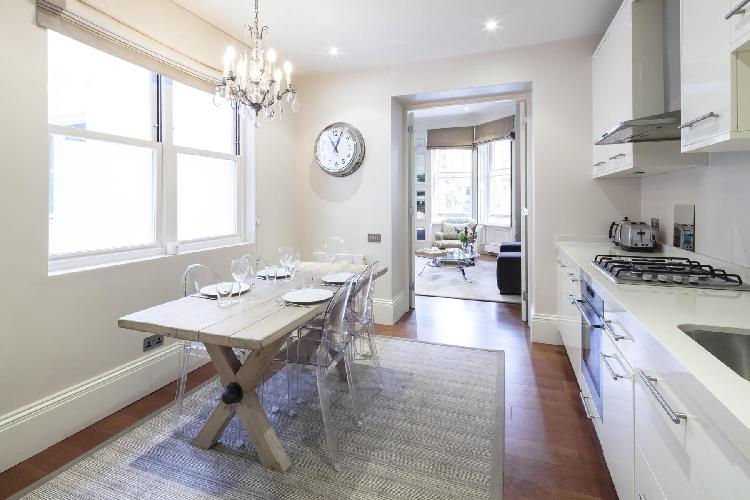cool kitchen of London Gledhow Gardens V luxury apartment
