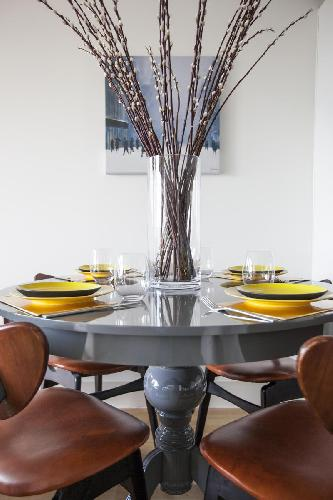 cool dining items in London Claremont Court luxury apartment