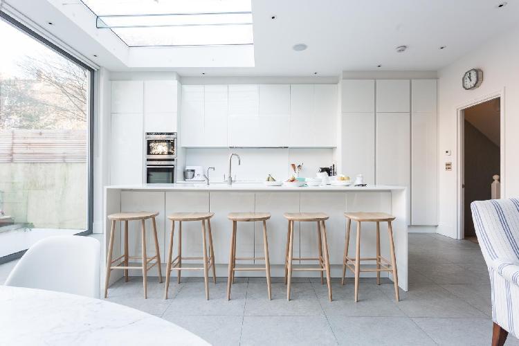 awesome kitchen skylight of London Poplar Grove luxury apartment