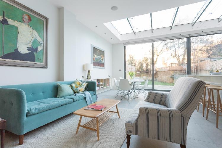 beautiful sitting room of London Poplar Grove luxury apartment
