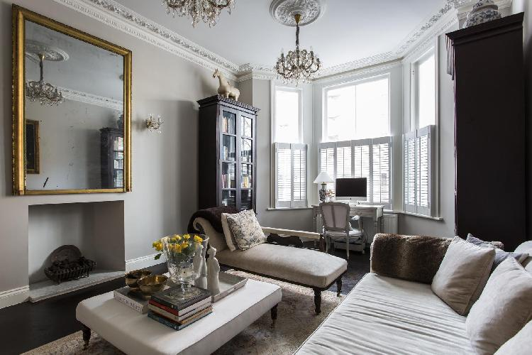 exquisite London Edith Place luxury apartment and holiday home in Chelsea, near Fulham Broadway tube