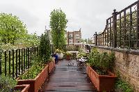 furnished deck with view of luxury apartment in Abbey Gardens St John's Wood London