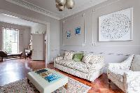 snug living room of luxury apartment in Abbey Gardens St John's Wood London