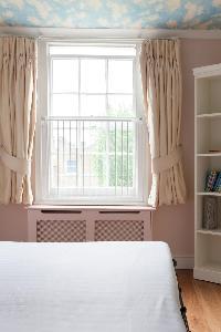 bedroom window of luxury apartment in Abbey Gardens St John's Wood London