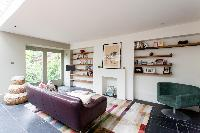 airy and sunny sitting room of luxury apartment in Abbey Gardens St John's Wood London