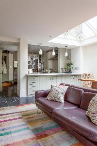 skylights illuminating the sitting room of luxury apartment in Abbey Gardens St John's Wood London