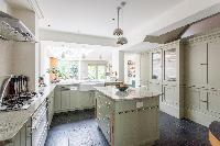 island in the kitchen of luxury apartment in Abbey Gardens St John's Wood London