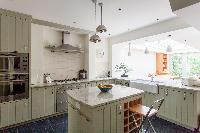 cozy kitchen of luxury apartment in Abbey Gardens St John's Wood London