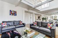romantic 1-bedroom Paris luxury apartment with large skylight