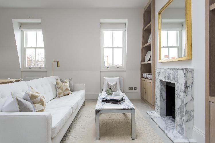delightful sitting area of London Kempsford Gardens luxury apartment
