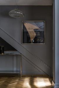 intriguing wall art in London De Walden Street luxury apartment