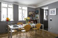 tasteful dining-area furnishings in London De Walden Street luxury apartment