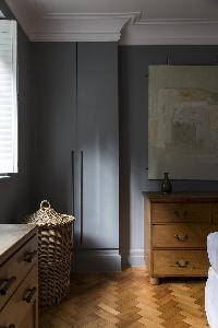 tasteful bedroom furnishings in London De Walden Street luxury apartment